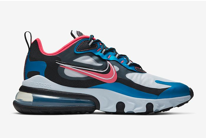 Nike Air Max 270 Reacts Script Swoosh Right Side Shot