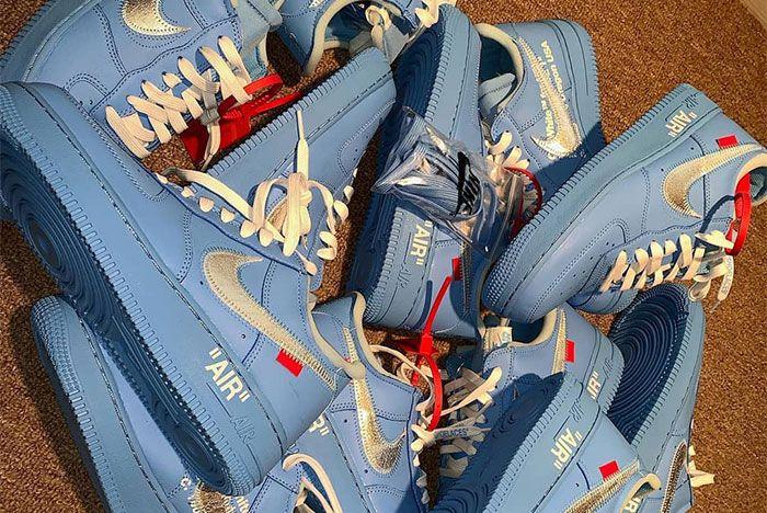 Virgil Abloh Off White Nike Air Force 1 Mca Blue Top Shot