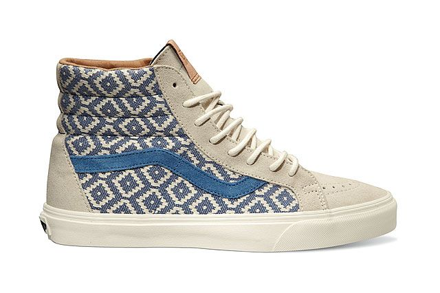 Vans California Collection Sk8 Hi Reissue Ca Italian Weave Birch Captains Blue 2014