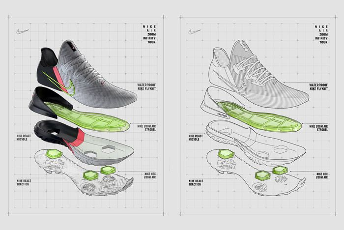 Nike Air Zoom Infinity Tour Exploded Diagram