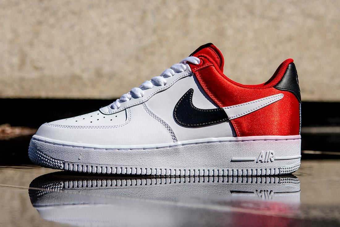Nike Nba Air Force 1 Low Red Black White Left