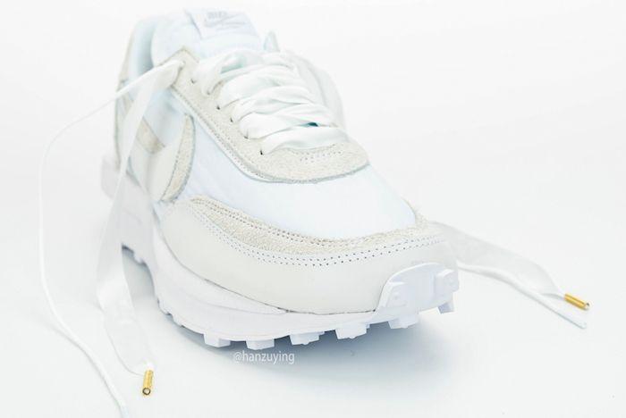 Sacai X Nike Ldwaffle White Front Laces