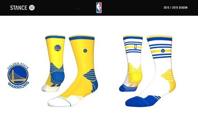 Golden State Warriors Stance Nba Sock Design