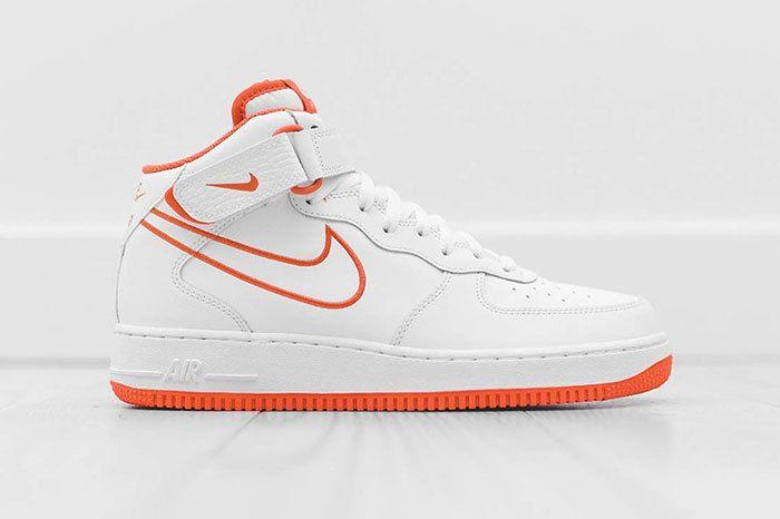 Nike Air Force 1 Mid White Orange 1