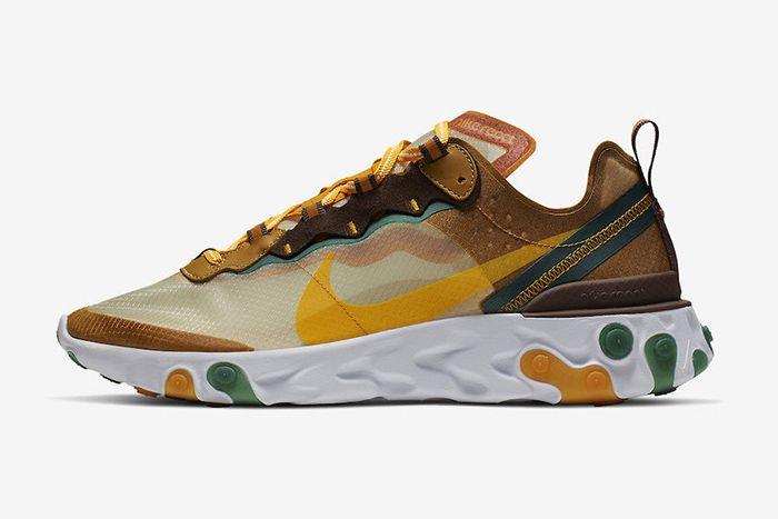 Nike React Element 87 Orange Peel Release Date Lateral