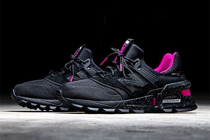 New Balance 997 S Black Pink Lateral Side
