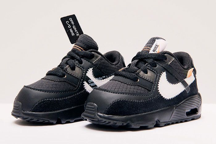Nike Air Max 90 Off White Black Little Kids Toddlers 3