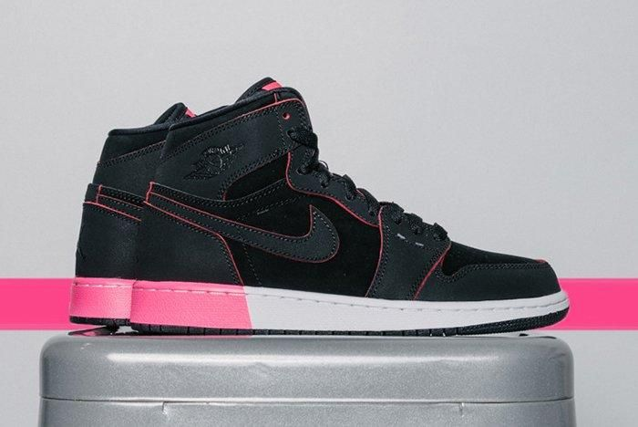 Air Jordan 1 High Gg Black Hyper Pink4