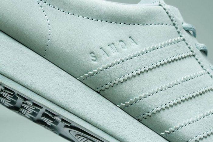 Adidas Samoa Pigskin Suede Light Grey 2