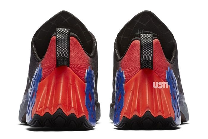 Jordan Trunner Nxt React Black Red Blue Heel
