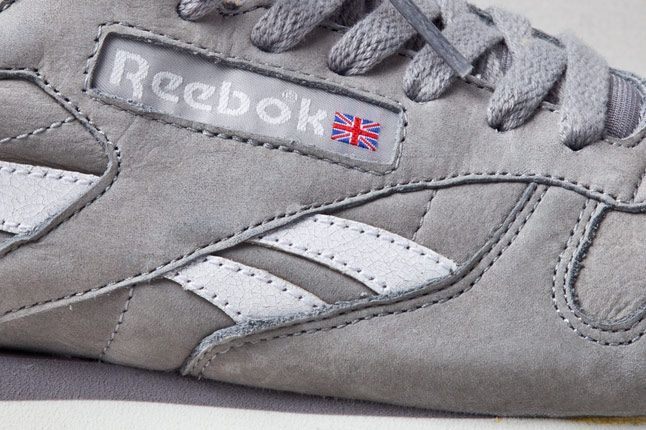 Reebok Classic Leather Vintage Racing Grey Detail 1