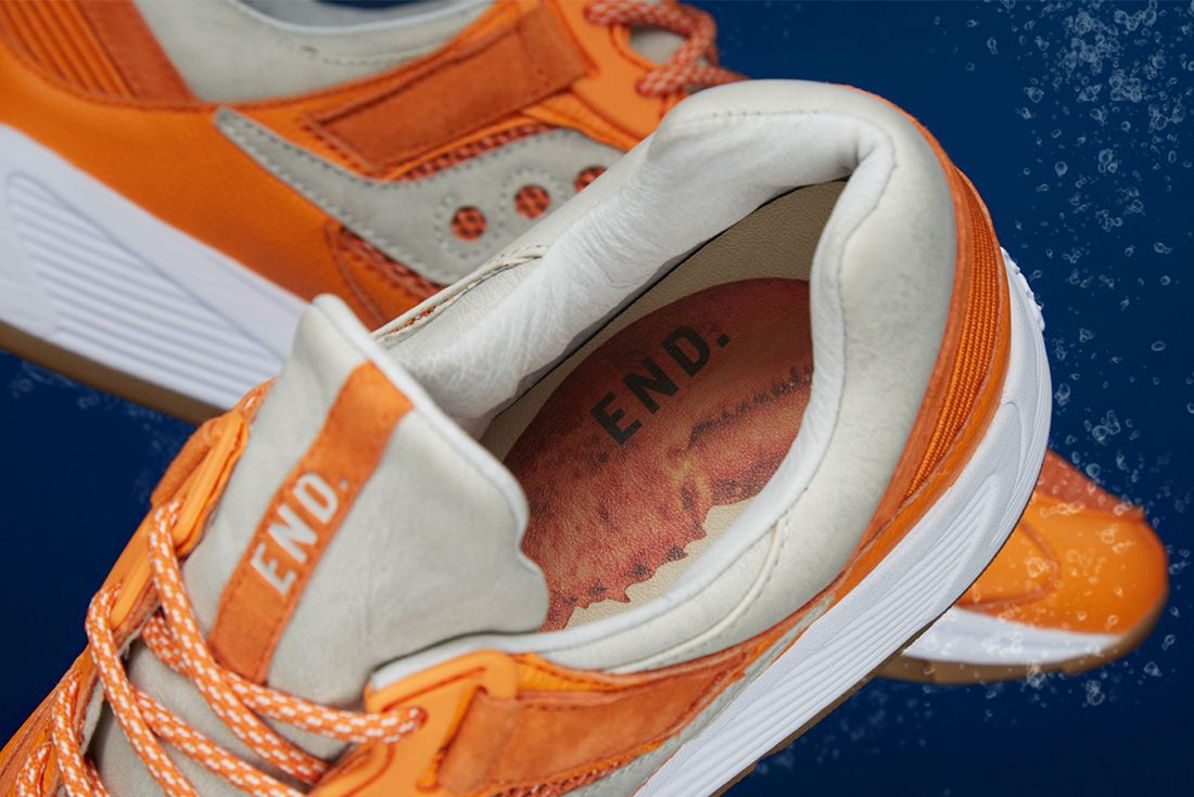 End X Saucony Grid 8500 Lobster 5