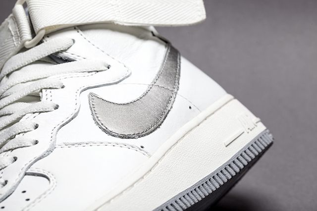 Nike Af1 Hi Summit White Silver Bumper 3