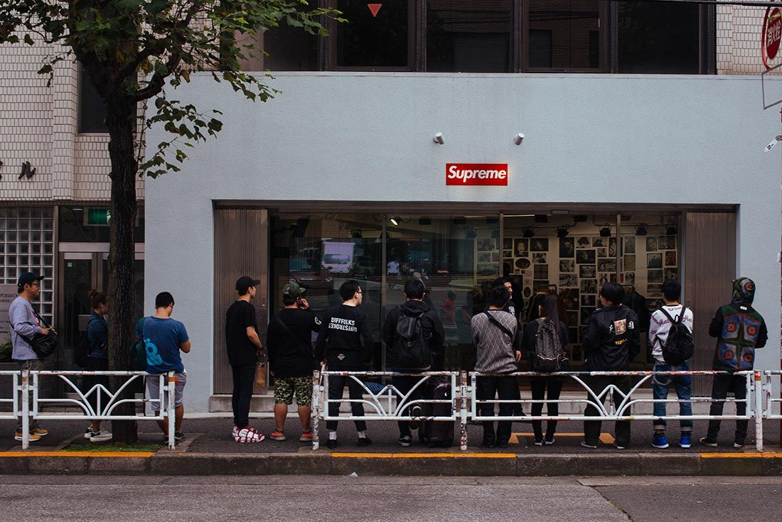 Supreme Store Queue