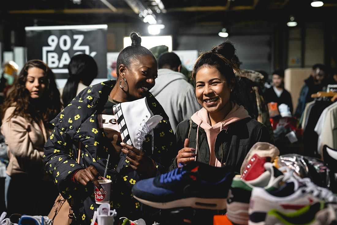Sneakerness London Event Recap Girls Smiling