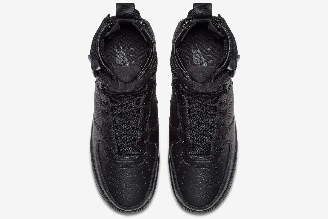 Nike Sf Air Force 1 Mid Black Sneaker Freaker 4