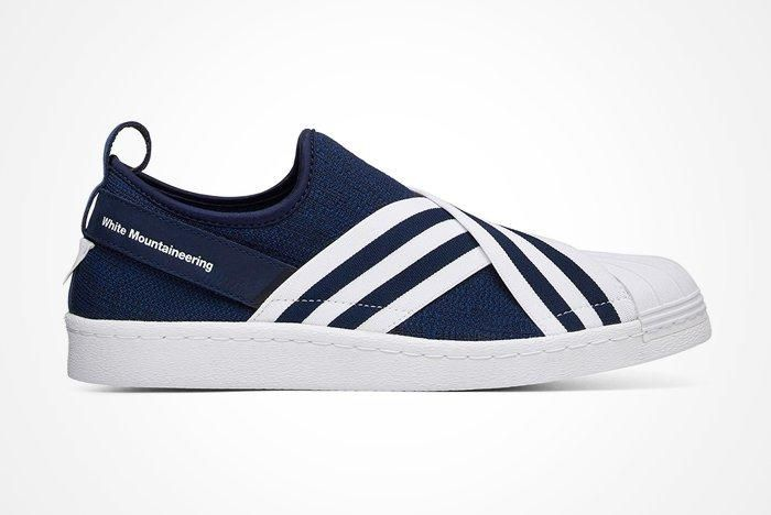 White Mountaineering X Adidas Superstar Slip On Feature