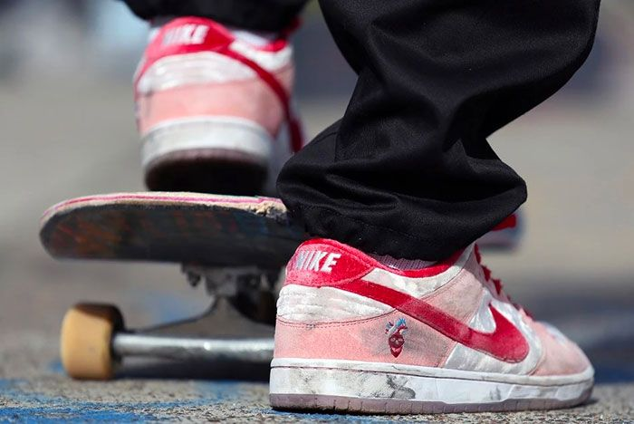 Strangelove Skateboards Nike Sb Dunk Low On Foot