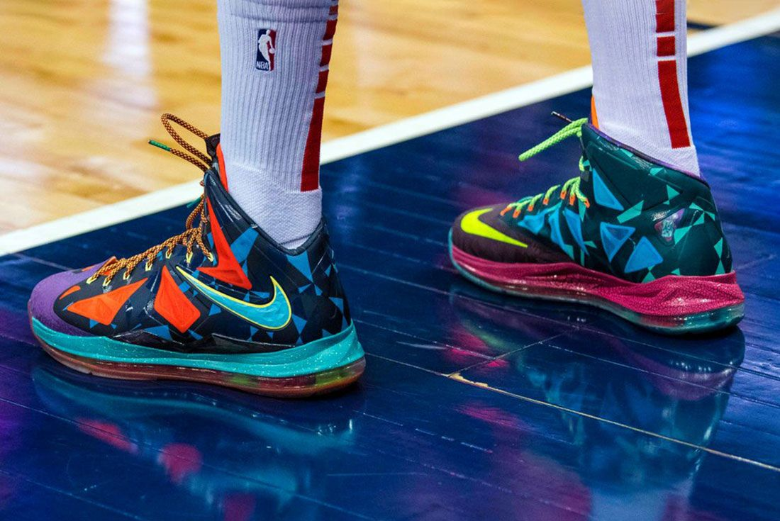 Nike What The Lebron 10 On Foot On Court
