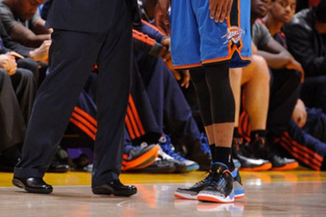 Russell Westbrook On Court Air Jordan 3 Shoes 1