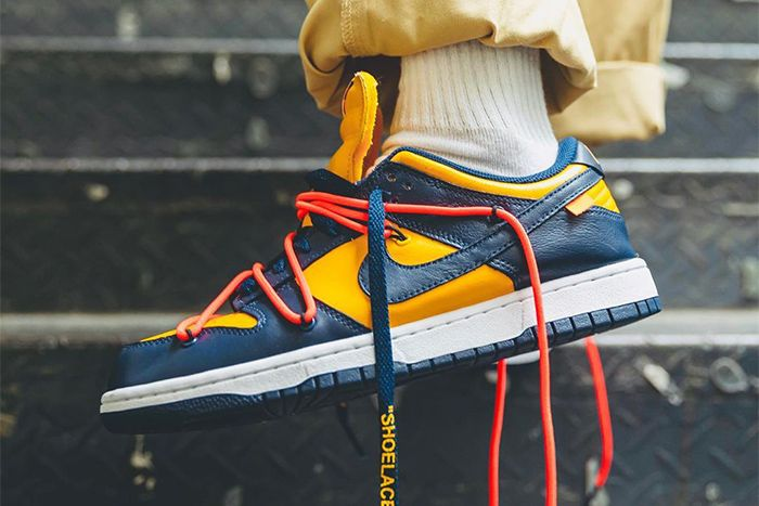 Off White Nike Dunk Low University Gold Ct0856 700 Hanzuying