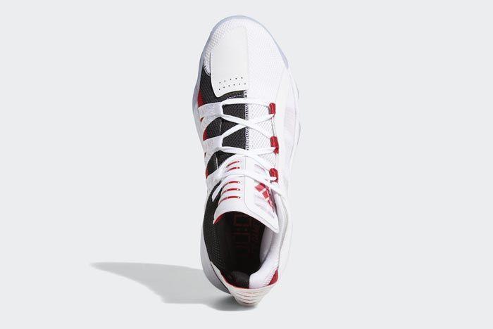 Adidas Dame 6 Cloud White Scarlet Black Top
