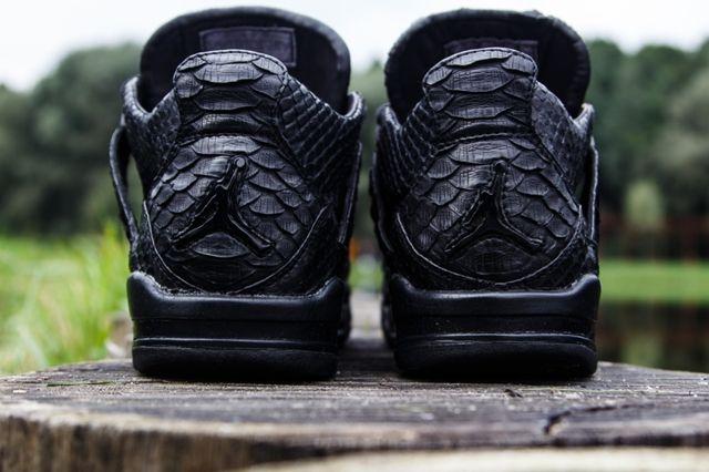 Mc Maggi Custom Air Jordan 4 Black Python Heel