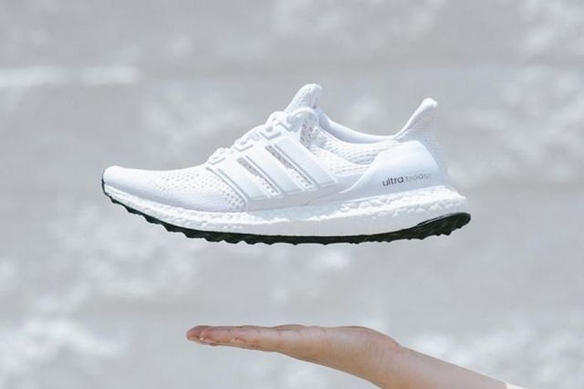 Adidas Ultra Boost White Black Bottom 2