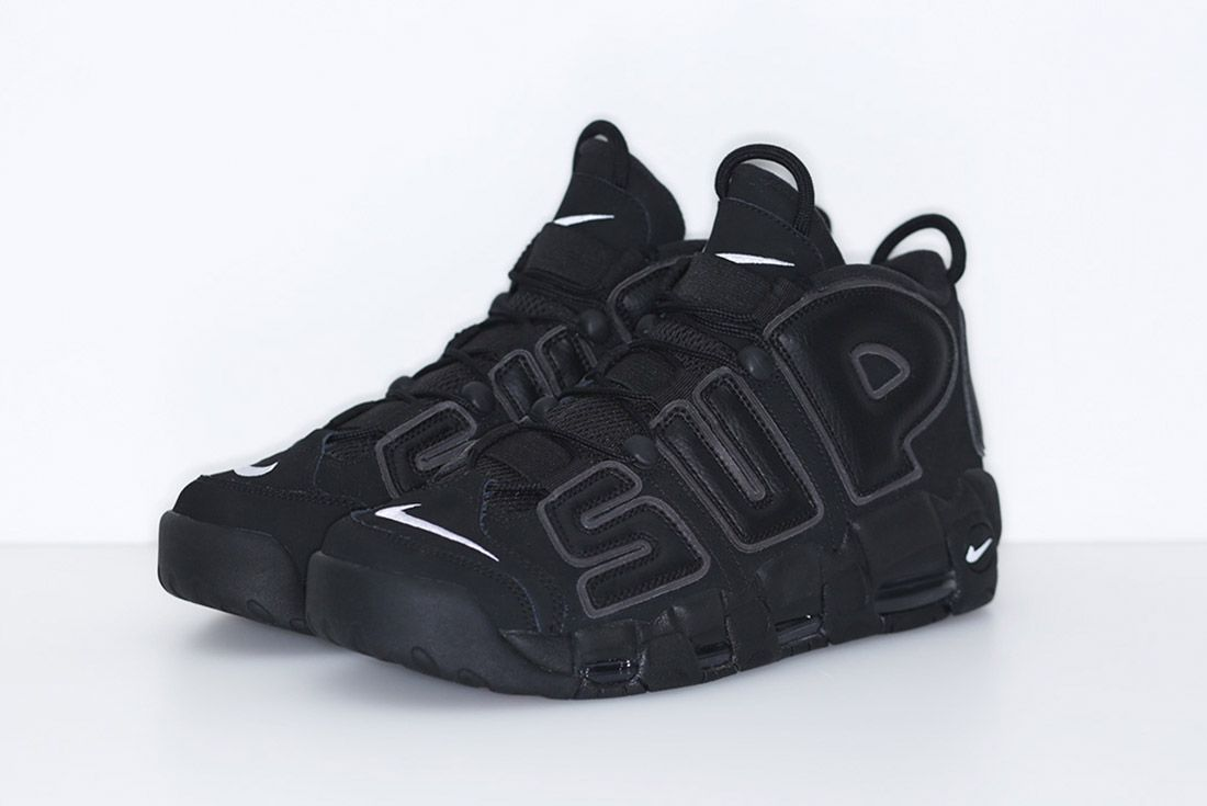 Supreme Nike Air More Uptempo Black 2