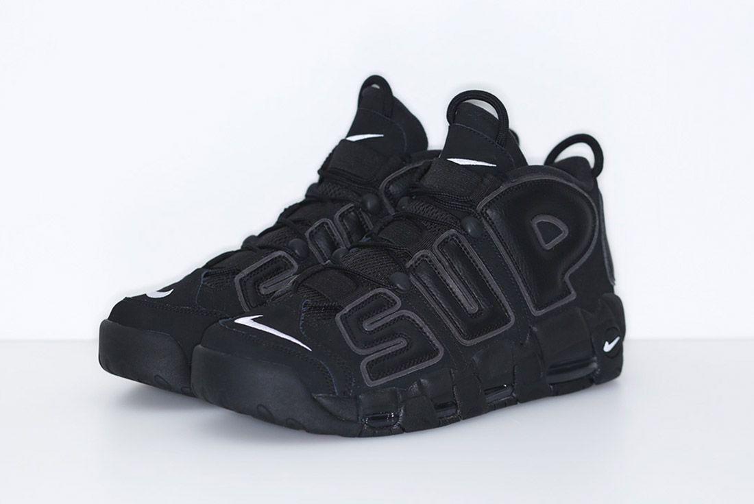 Supreme Nike Air More Uptempo Black 2