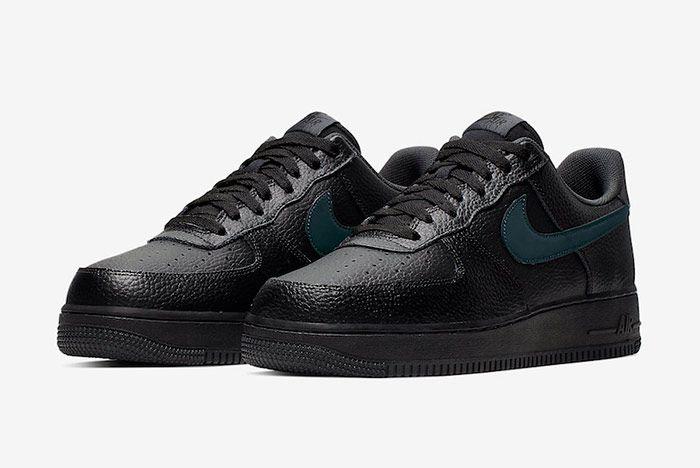 Nike Air Force 1 Low Black Anthracite Quarter