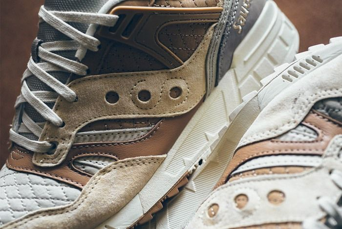 Saucony Grid Sd Quilted Tan Grey 02
