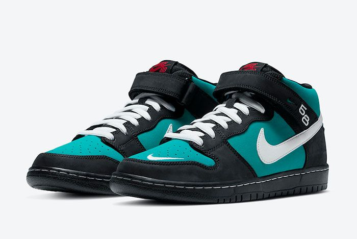 Nike Sb Dunk Mid Griffey Cv5474 001 Front Angle