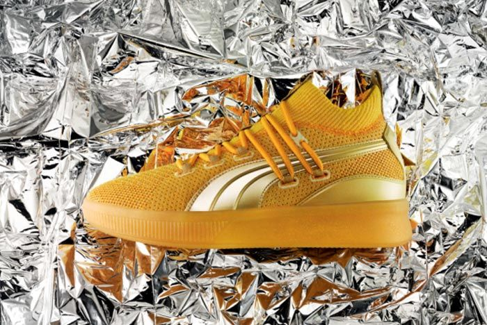 Puma Clyde Court Title Run Gold Lateral 2