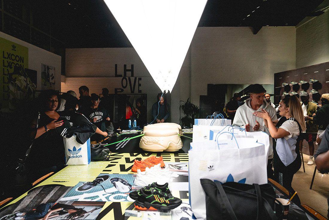 Adidas Ozweego 2019 Sneaker Freaker London Launch Crowd Shot Sneaker Display3