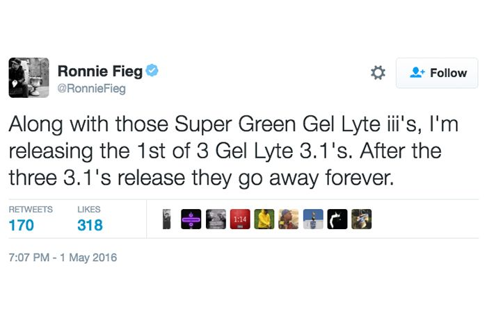 Ronnie Fieg Confirms Super Green Gel Lyte Iii And More For 2016
