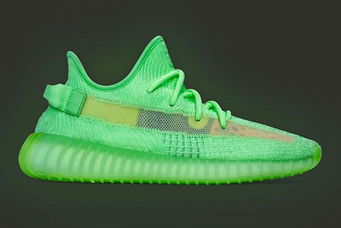 Adidas Yeezy Boost 350 V2 Glow In The Dark Right