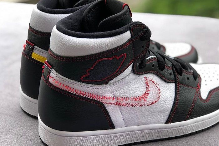 Air Jordan 1 Retro High Og Dynamic Yellow Red Stitch Release Date 1 Up Close