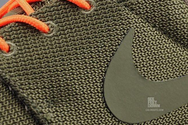 Nike Roshe Run 2Faced Green Swoosh Detail 1