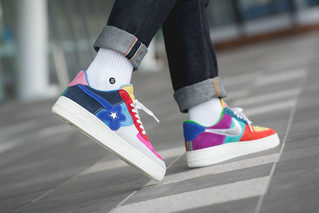 Bespoke Ind Easter What The Swoosh Air Force 1 On Foot2