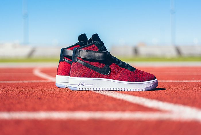 Nike Air Force 1 High Flyknit University Red