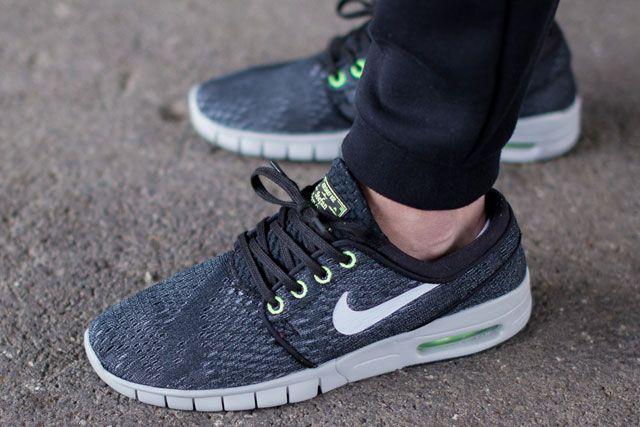 Nike Sb Janoski Max Blackwolf Greyflash Lime 3
