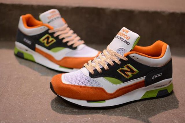 New Balance M1500 Whiteorangegreen 5
