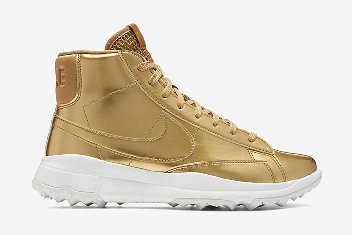 Nike Blazer Golf Metallic Gold Wmns 4