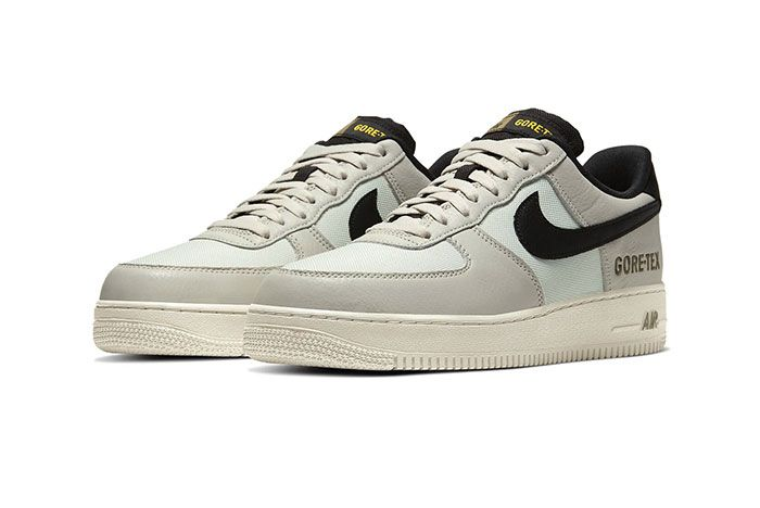 Nike Air Force 1 Gore Tex Light Bone Medium Olive Ck2630 002 Front Angle