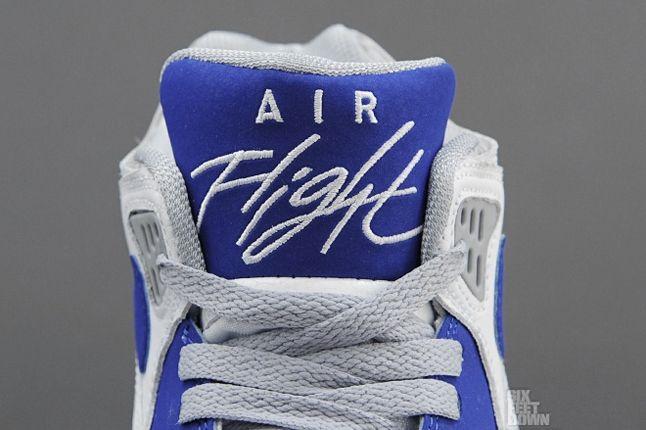 Nike Air Flight 89 White Hyper Blue Tongue Detail 1
