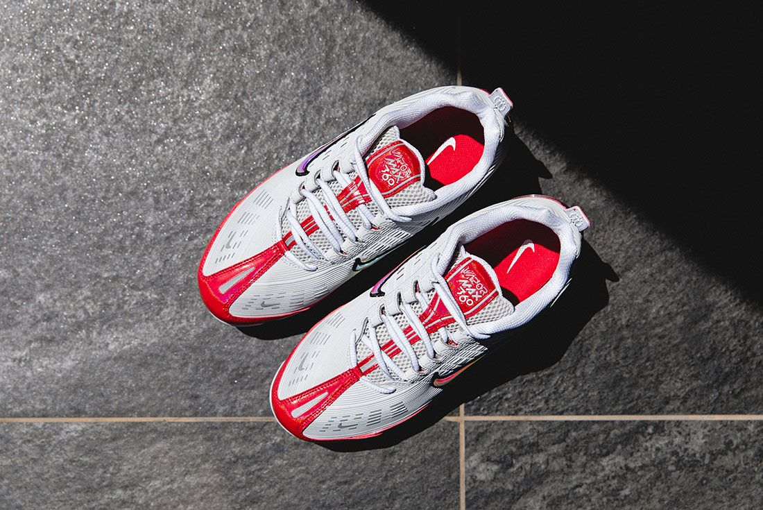 Nike Air Vapormax 360 Silver Red Top Hype Dc