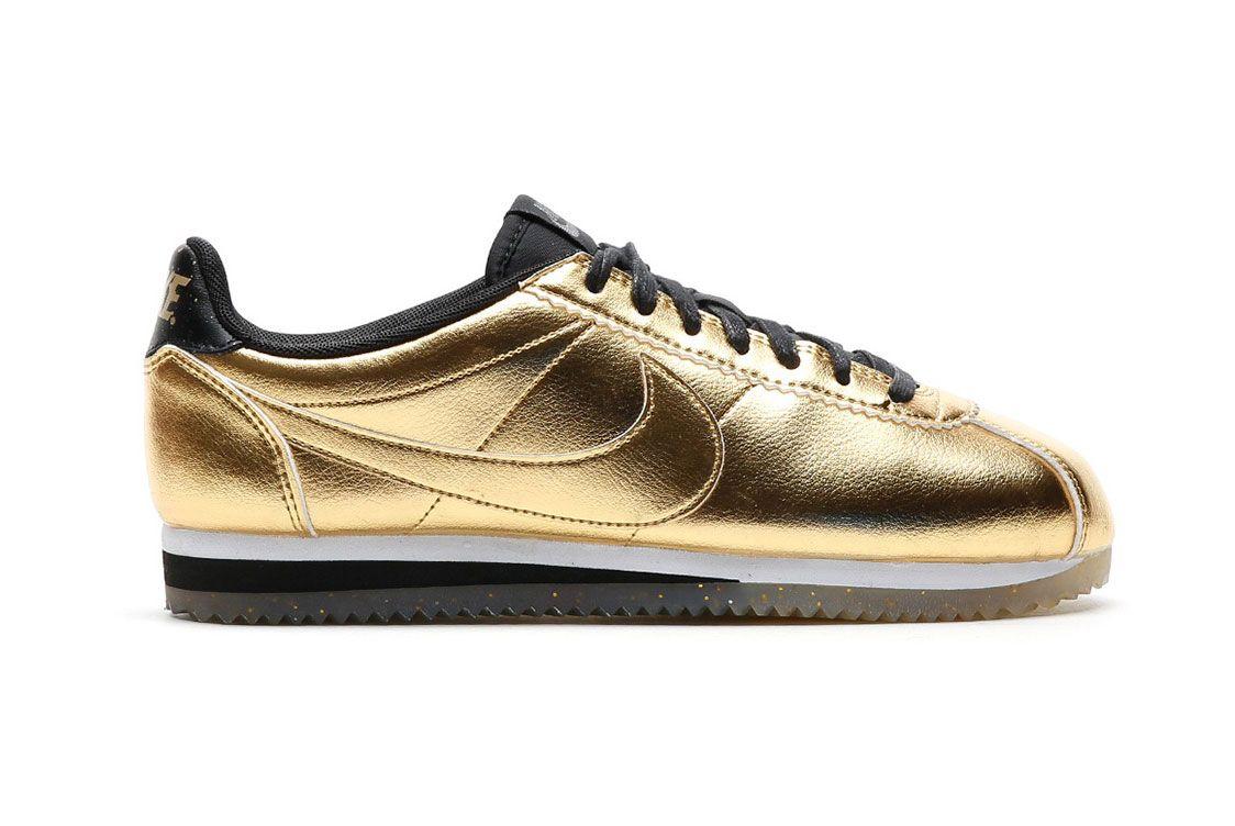 Nike Classic Cortez Leather Metallic Gold 1