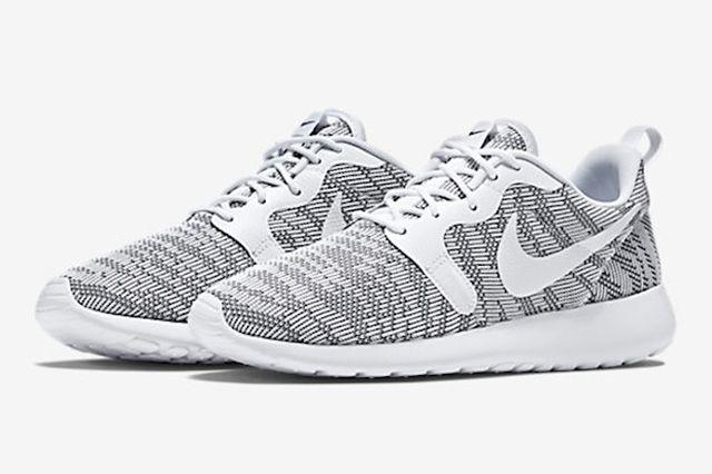 Nike Roshe Run Knit Jacquard White Cool Grey