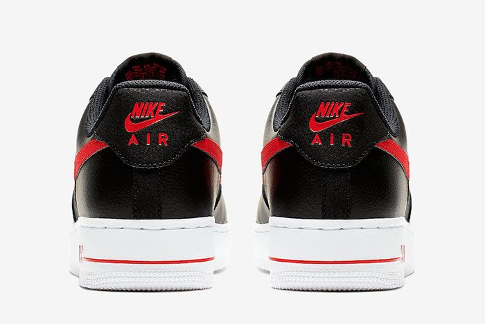 Nike Air Force 1 Low Black University Red Cd1516 001 Release Date 5